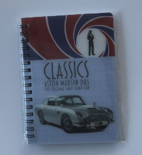 Aston Martin DB5 James Bond car 3D Notebook